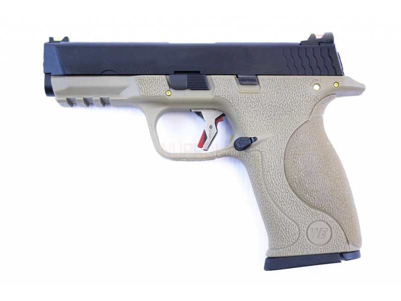 WE E-Force Big Bird M&P Tan (Black Slide / Silver Barrel)