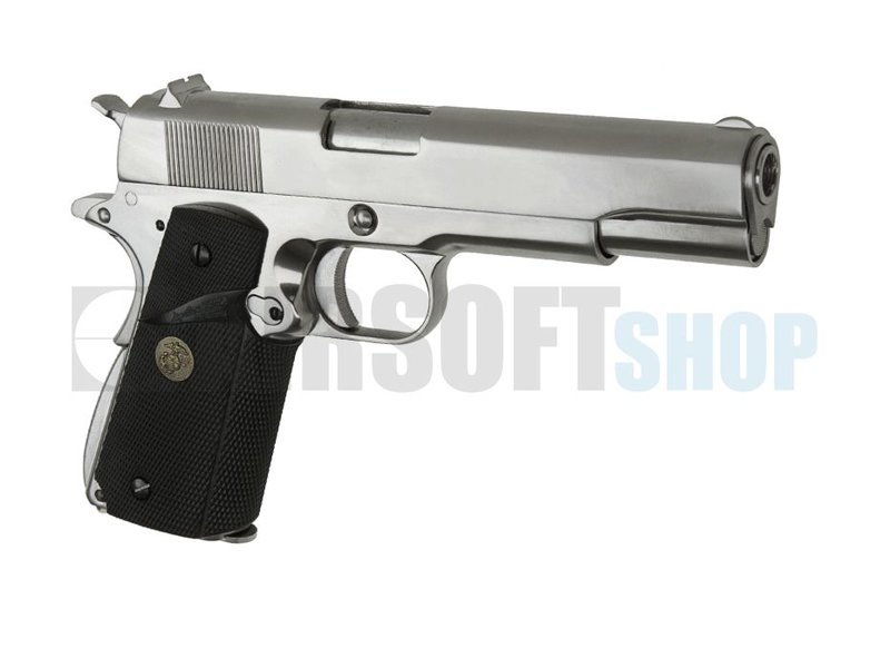 WE M1911 MEU Silver GBB