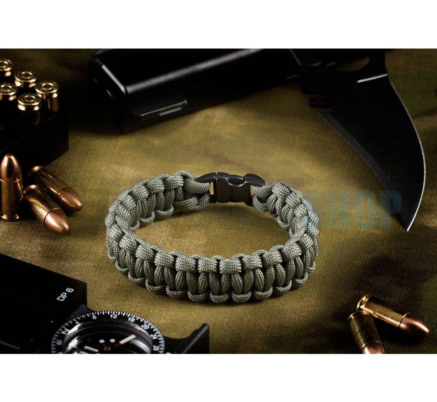 Paracord Bracelet Compact (Grey)