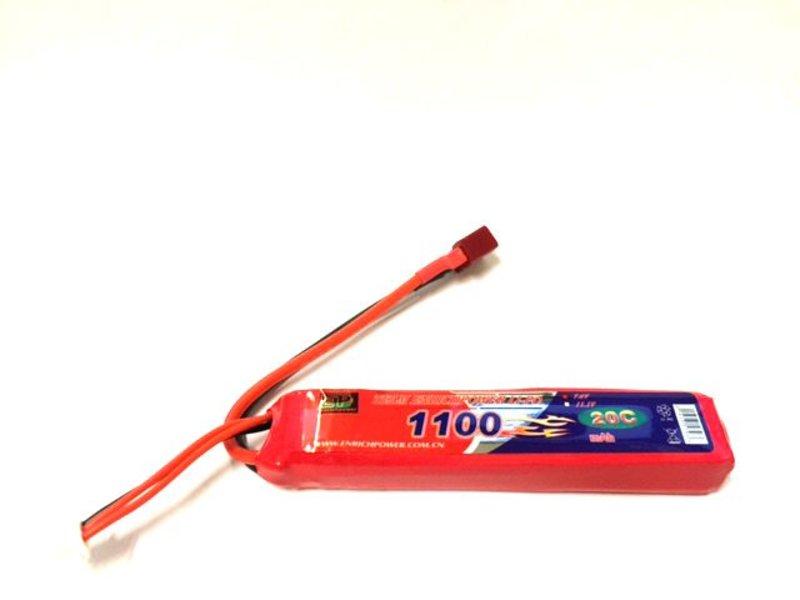 Enrichpower LiPo 7.4V 1100mAh 20C Stick Type (Deans)