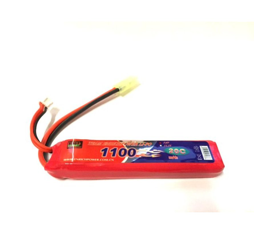 LiPo 7.4V 1100mAh 20C Stick Type (Tamiya)