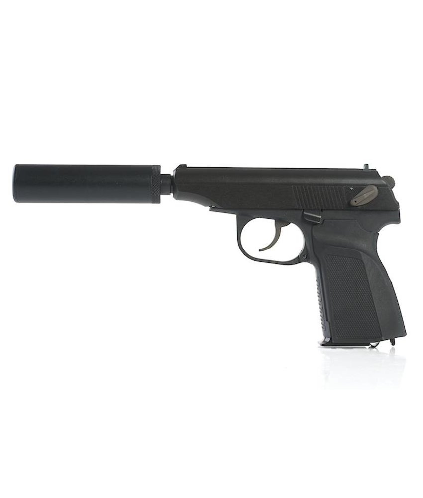 WE Makarov 654K + Silencer (Black)
