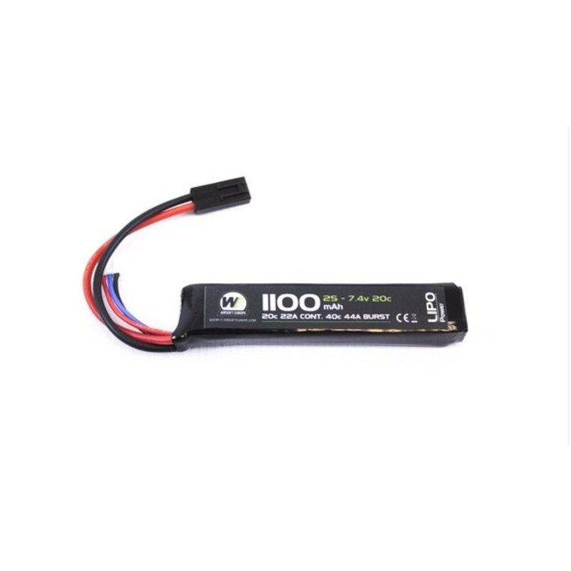 WE LiPo 7.4V 1100mAh 20C Stick Type