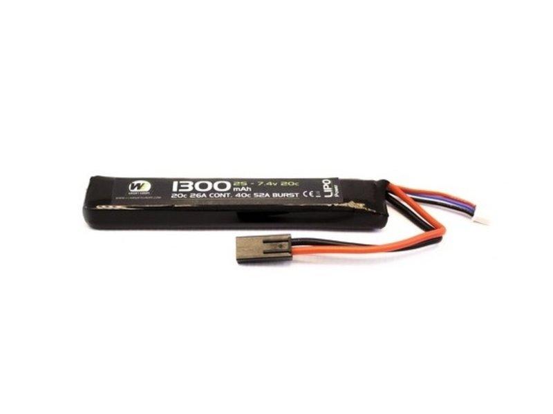 WE LiPo 7.4V 1300mAh 20C Stick Type
