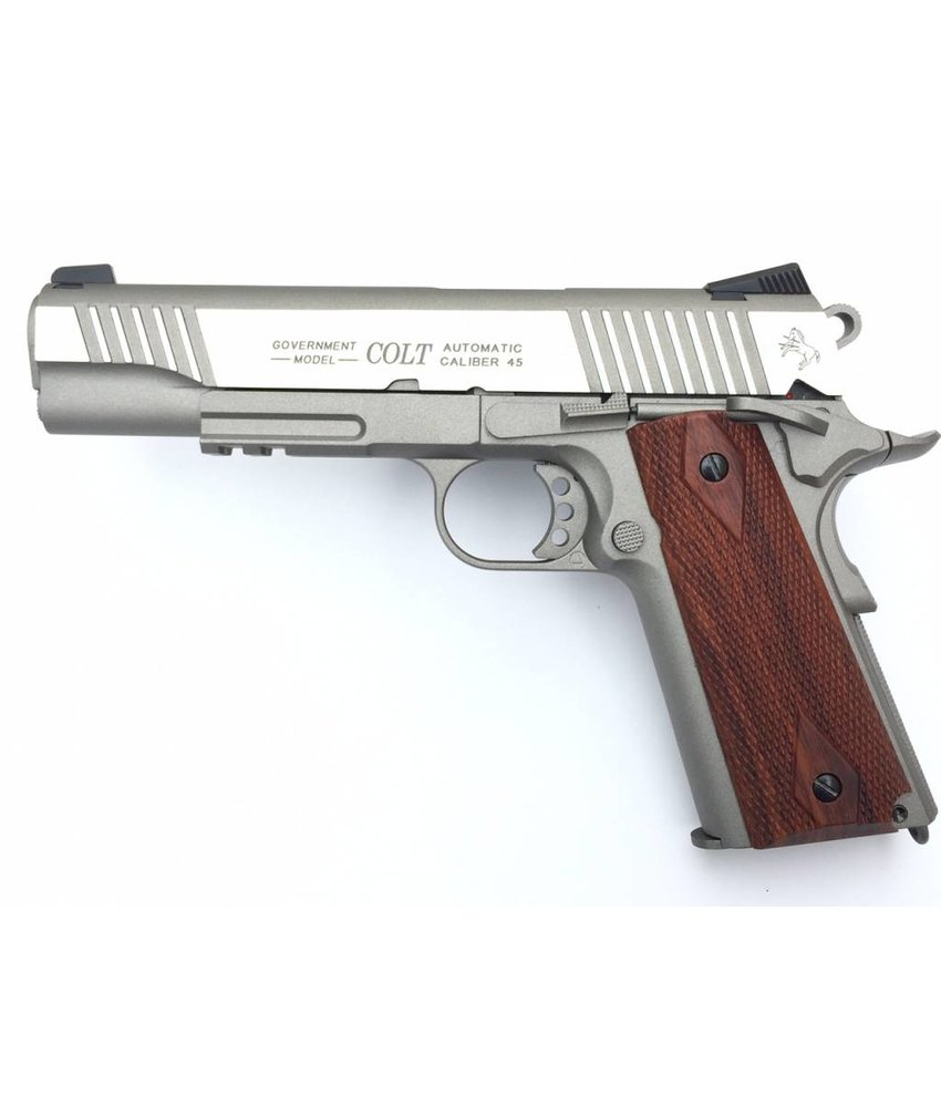 Cybergun Colt 1911 Rail Gun Stainless CO2