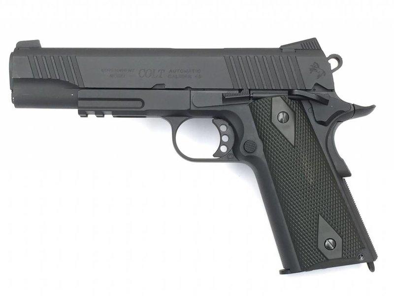 Cybergun Colt 1911 Rail Gun Blackened CO2