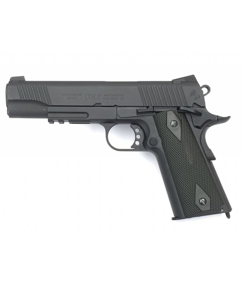 Cybergun Colt 1911 Rail Gun Blackened CO2