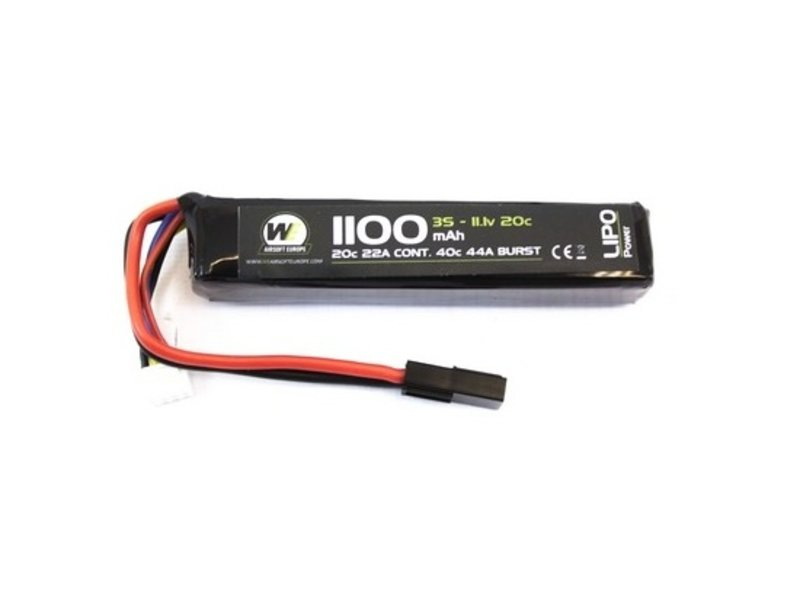 WE LiPo 11.1V 1100mAh 20C Stick Type
