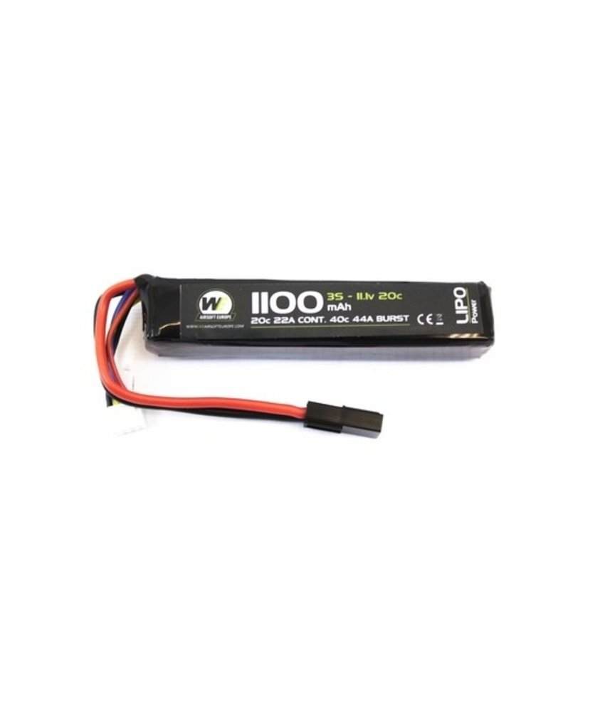 NUPROL LiPo 11.1V 1100mAh 20C Stick Type