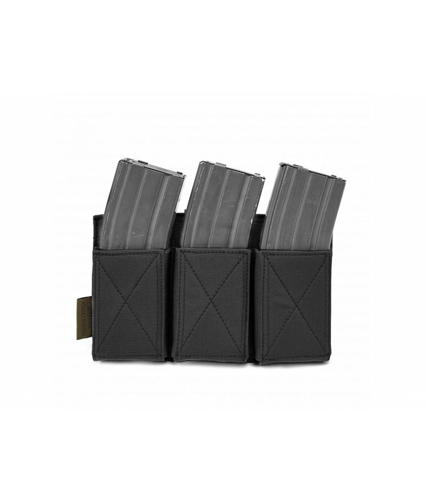 Warrior Triple Elastic Mag Pouch (Black)