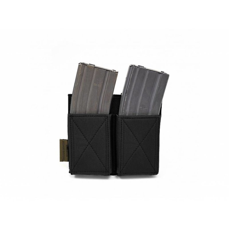 Warrior Double Elastic Mag Pouch (Black)