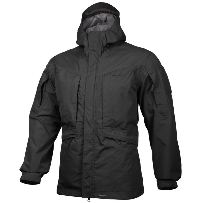 Pentagon Monsoon Rain-Shell Jacket (Black)