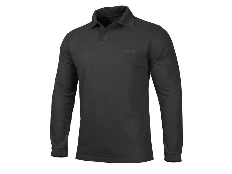 Pentagon Polo Shirt 2.0 Long Sleeve (Black)