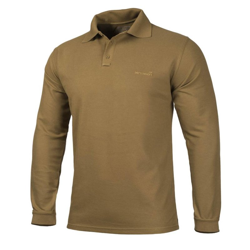 Pentagon Polo Shirt 2.0 Long Sleeve (Coyote)