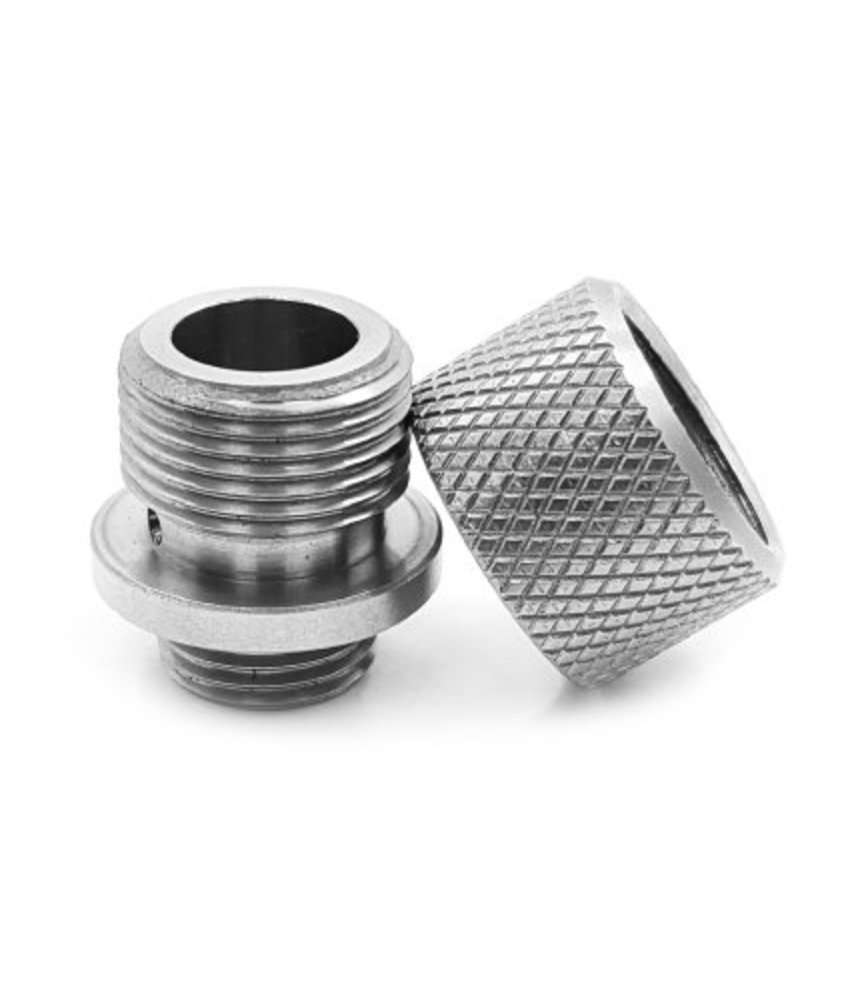 UAC Stainless Steel Silencer Adapter (Silver)