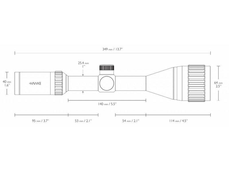 HAWKE Vantage 4-12x50 AO Mil Dot IR Scope