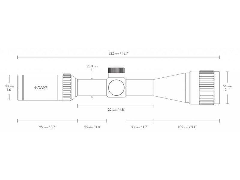 HAWKE Vantage 3-9x40 AO Mil Dot Scope