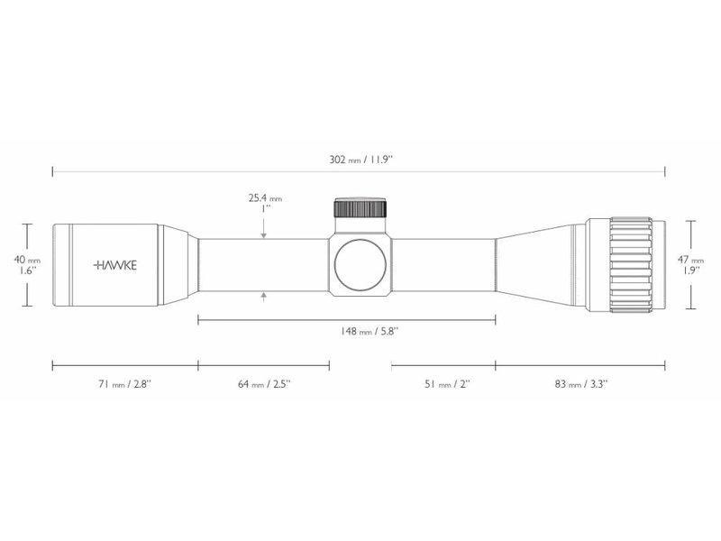 HAWKE Vantage 4x32 AO Mil Dot Scope