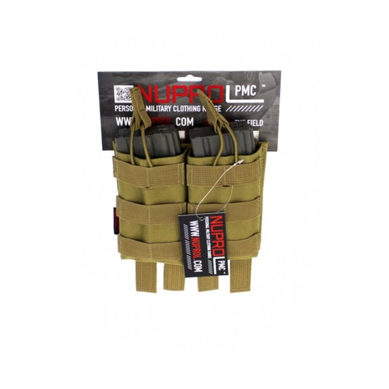 NUPROL PMC M4 Double Open Mag Pouch (Tan)