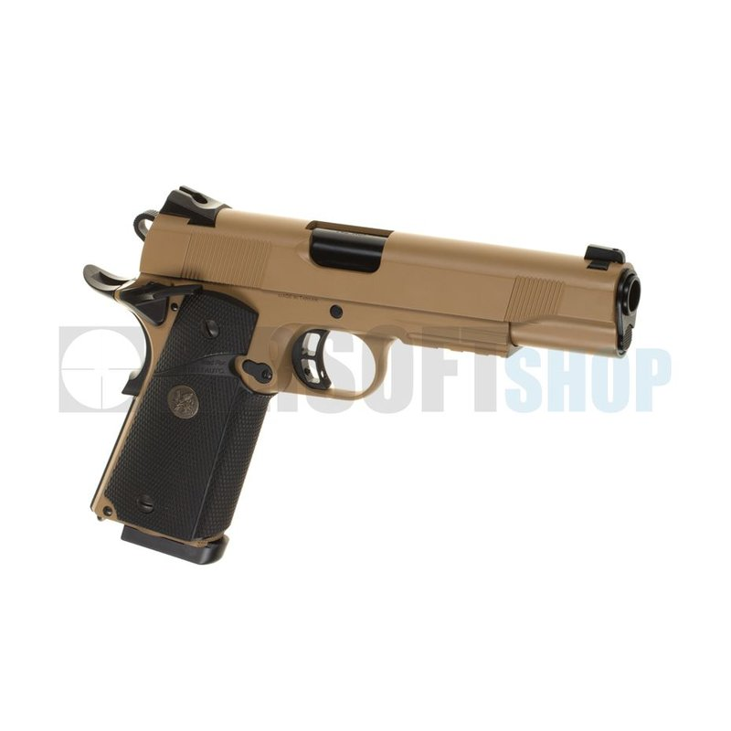 KJ Works M1911 MEU Full Metal GBB (Tan)