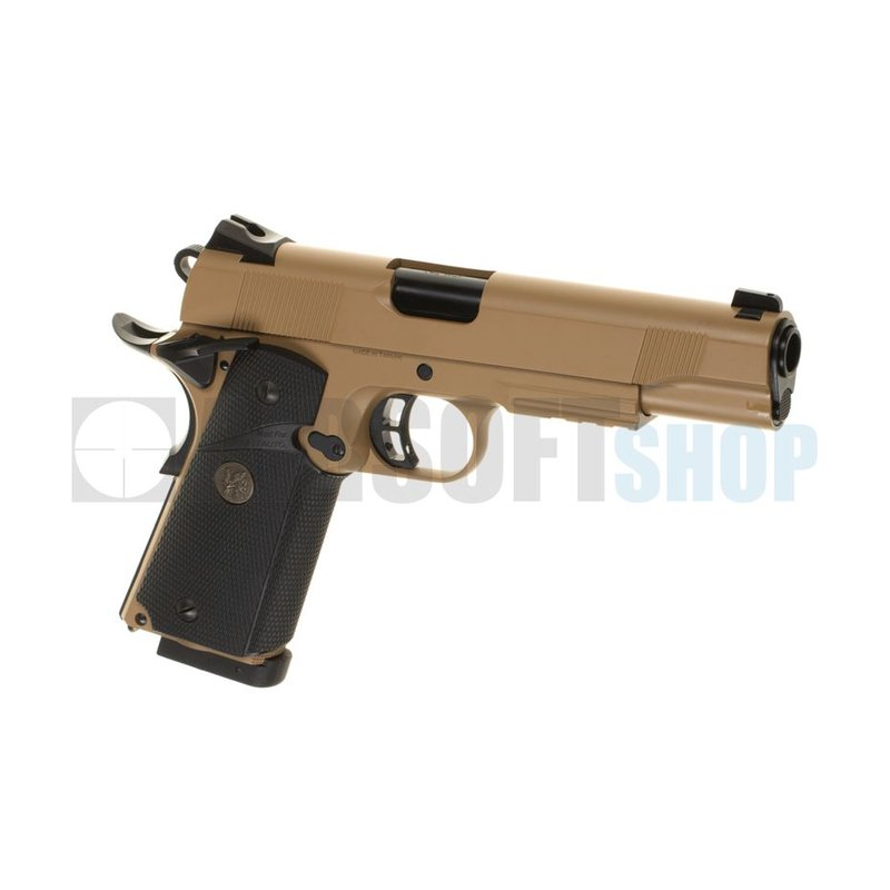 KJ Works M1911 MEU Full Metal CO2 (Tan)