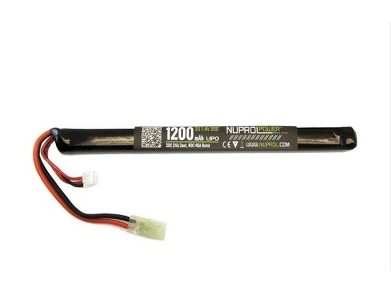 NUPROL LiPo 7.4V 1200mAh 20C Slim Stick AK Type