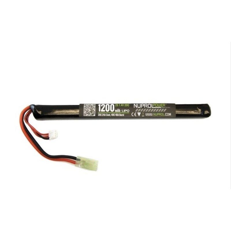 WE LiPo 7.4V 1200mAh 20C Slim Stick AK Type