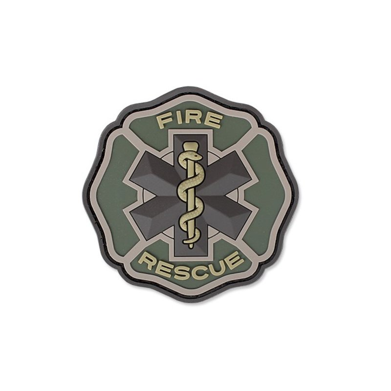 MIL-SPEC MONKEY Fire Rescue PVC Patch (Multicam)