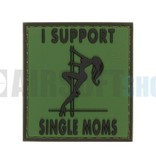 JTG I Support Single Moms PVC Patch (Forest)