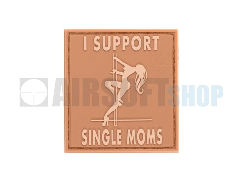 JTG I Support Single Moms PVC Patch (Desert)
