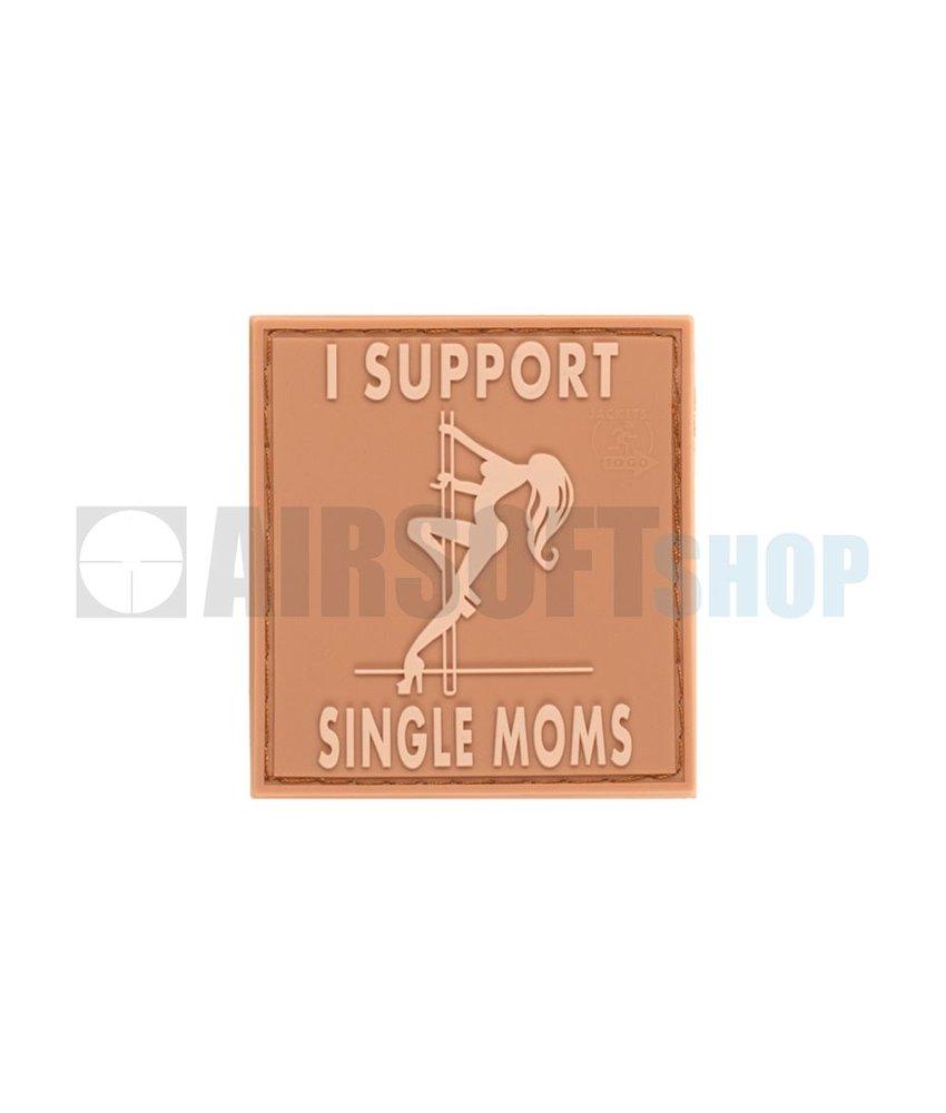 JTG I Support Single Moms PVC Patch (Desert)