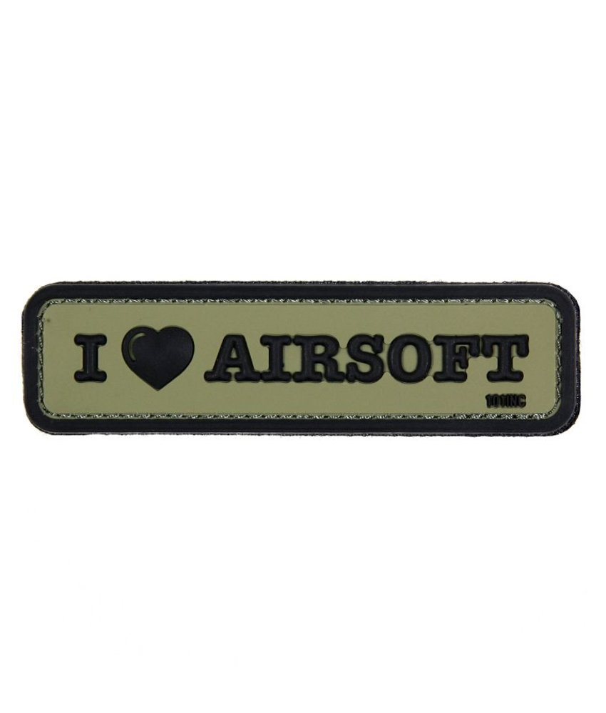 101 Inc I Love Airsoft PVC Patch (Olive)