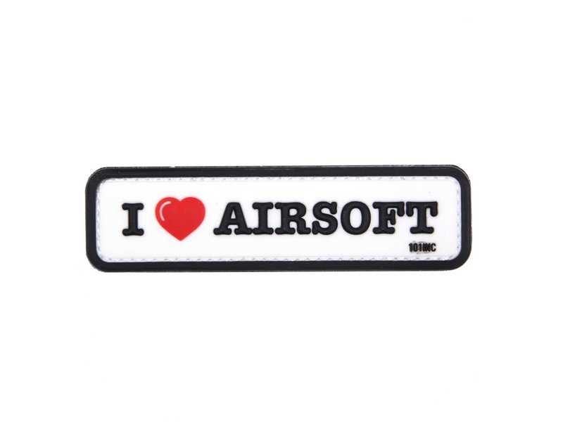 101 Inc I Love Airsoft PVC Patch (White)