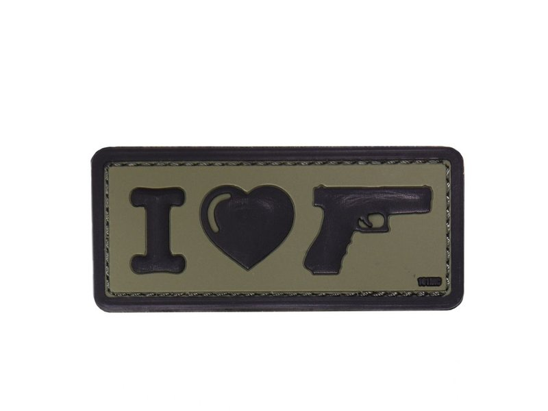 101 Inc I Love My Sidearm PVC Patch (Olive)