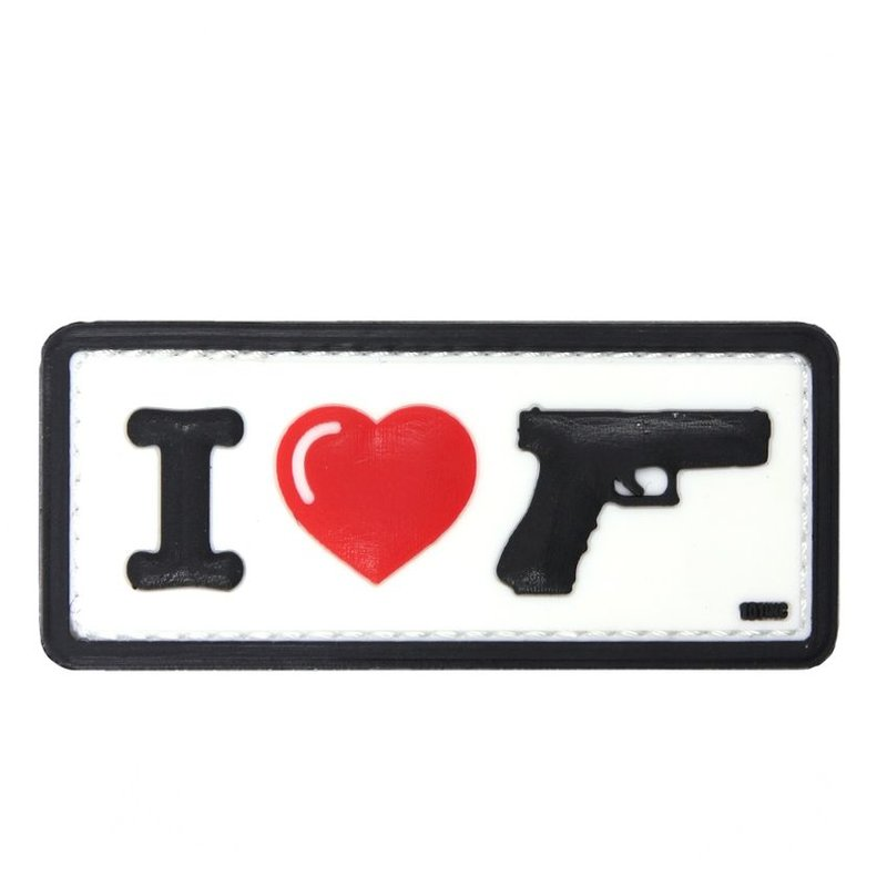 101 Inc I Love My Sidearm PVC Patch (White)