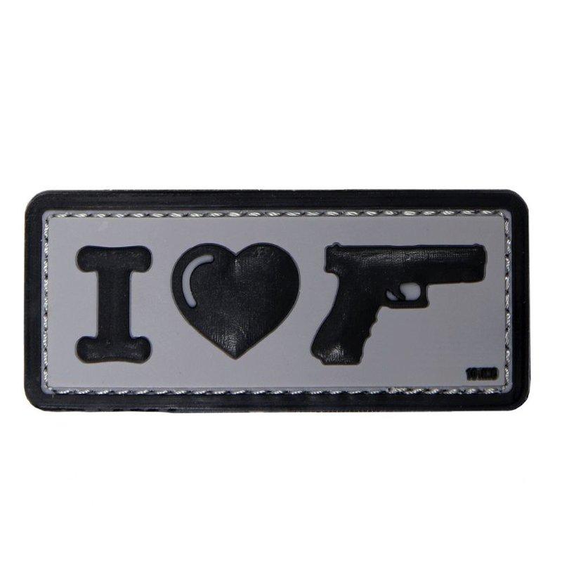 101 Inc I Love My Sidearm PVC Patch (Grey)