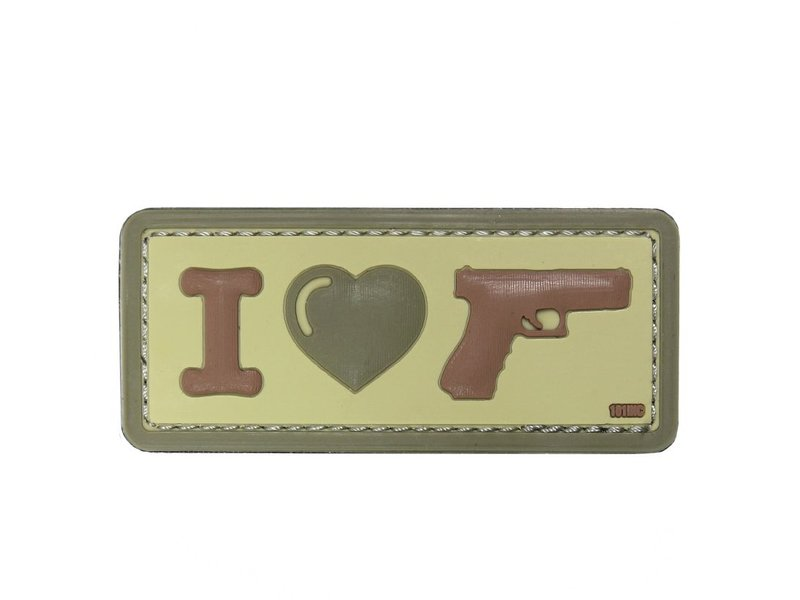 101 Inc I Love My Sidearm PVC Patch (Coyote)