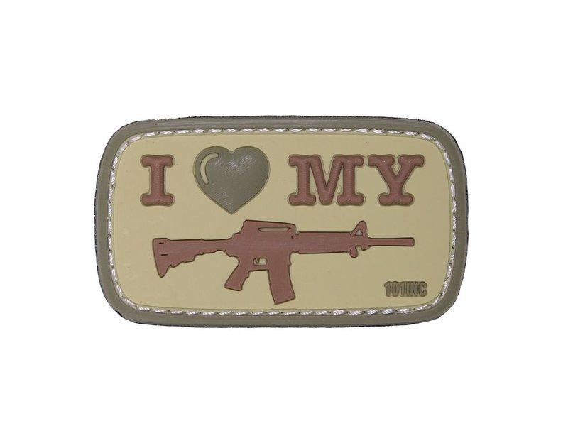 101 Inc I Love My M4 PVC Patch (Coyote)