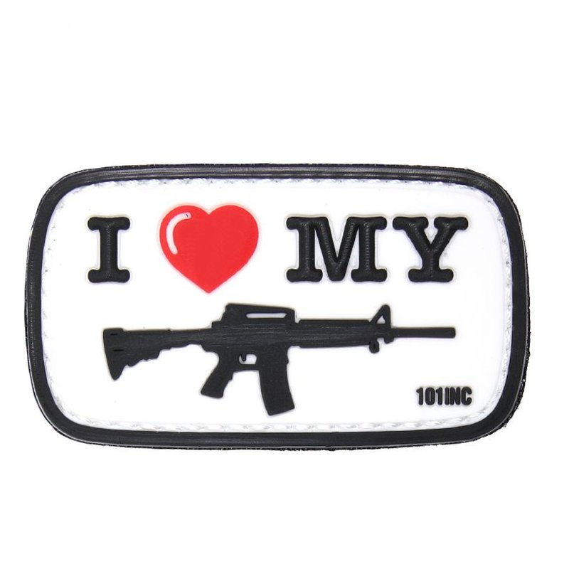101 Inc I Love My M4 PVC Patch (White)