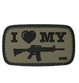 101 Inc I Love My M4 PVC Patch (Olive)