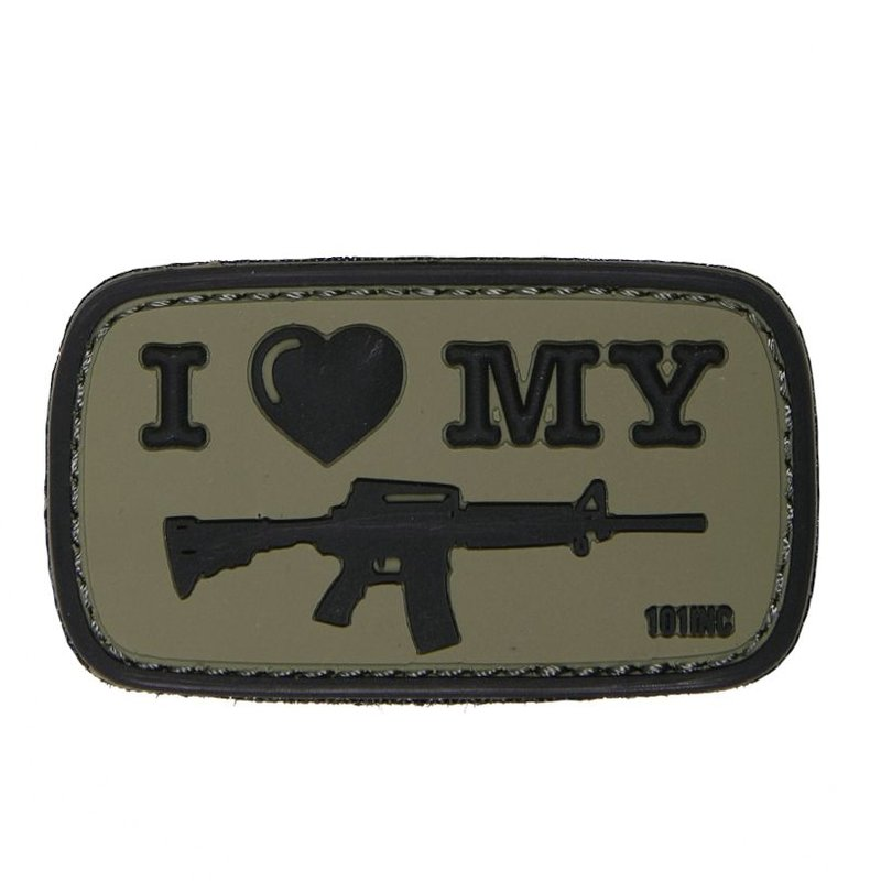 101 Inc I Love My M4 PVC Patch (Olive)