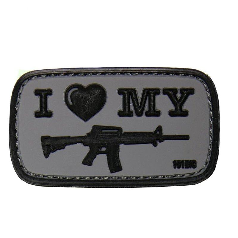 101 Inc I Love My M4 PVC Patch (Grey)