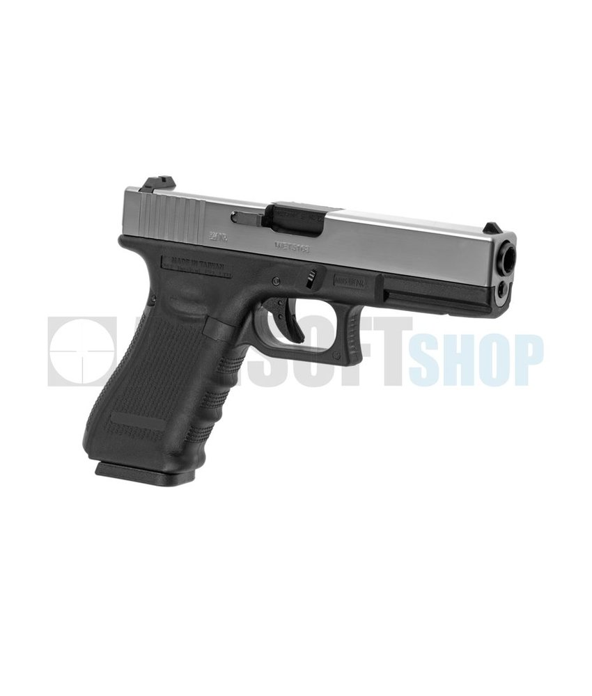 WE G17 Gen4 GBB (Dual Tone Silver Slide)