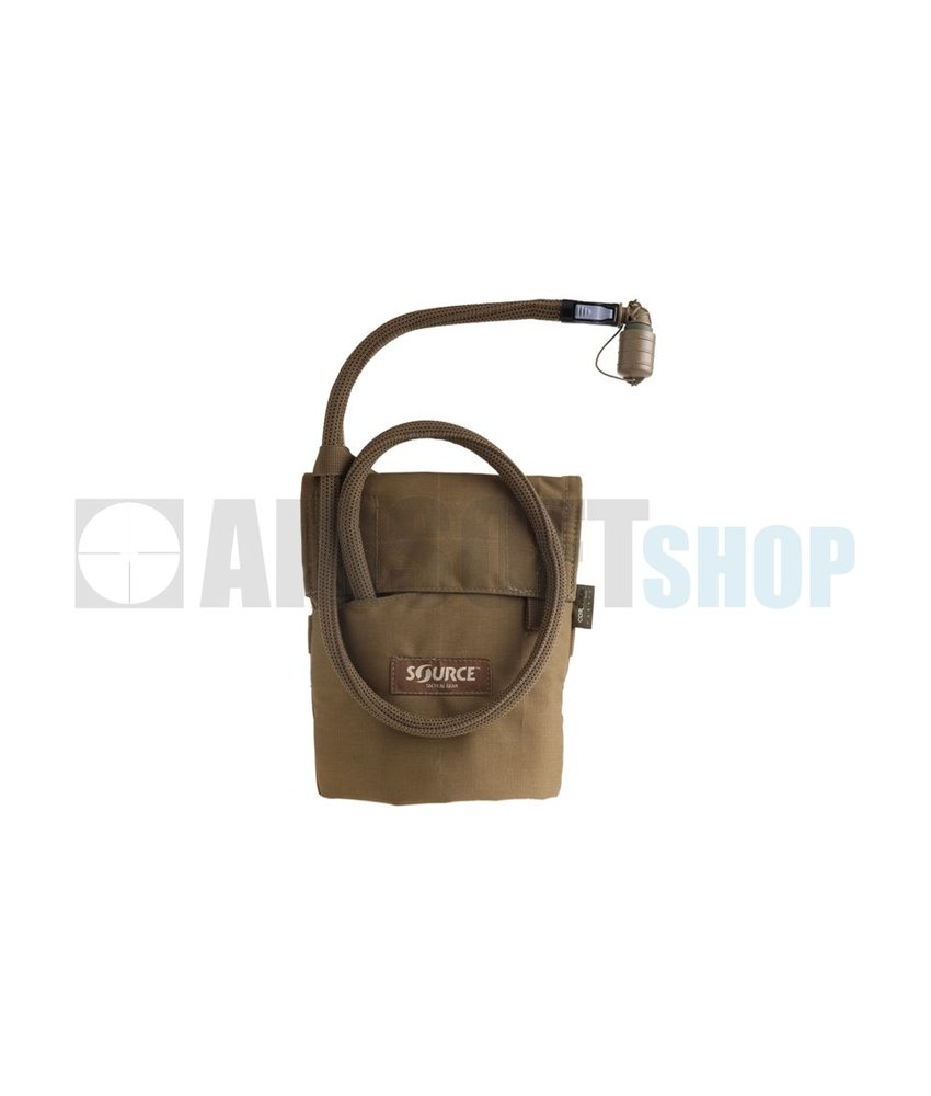 Source Kangaroo 1L Collapsible Canteen + Pouch (Coyote)