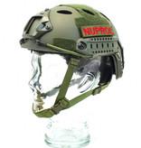 NUPROL FAST Railed Helmet (Green)
