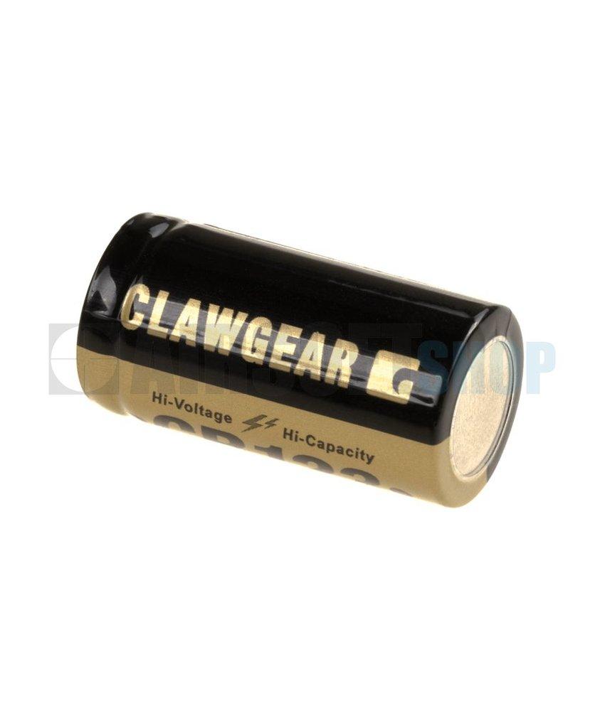 Claw Gear CR123 Lithium 3V Batterij