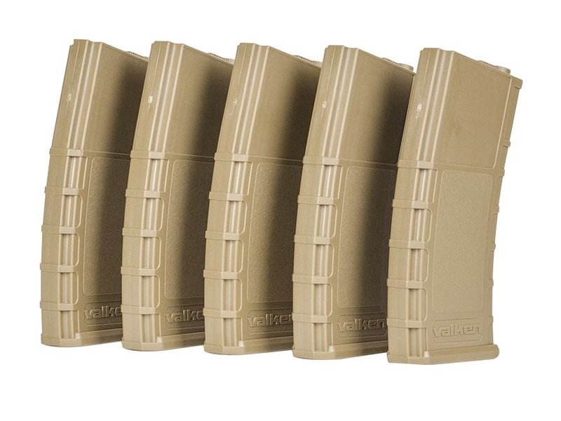 Valken RMAG Highcap 300rds 5-PACK (Tan)