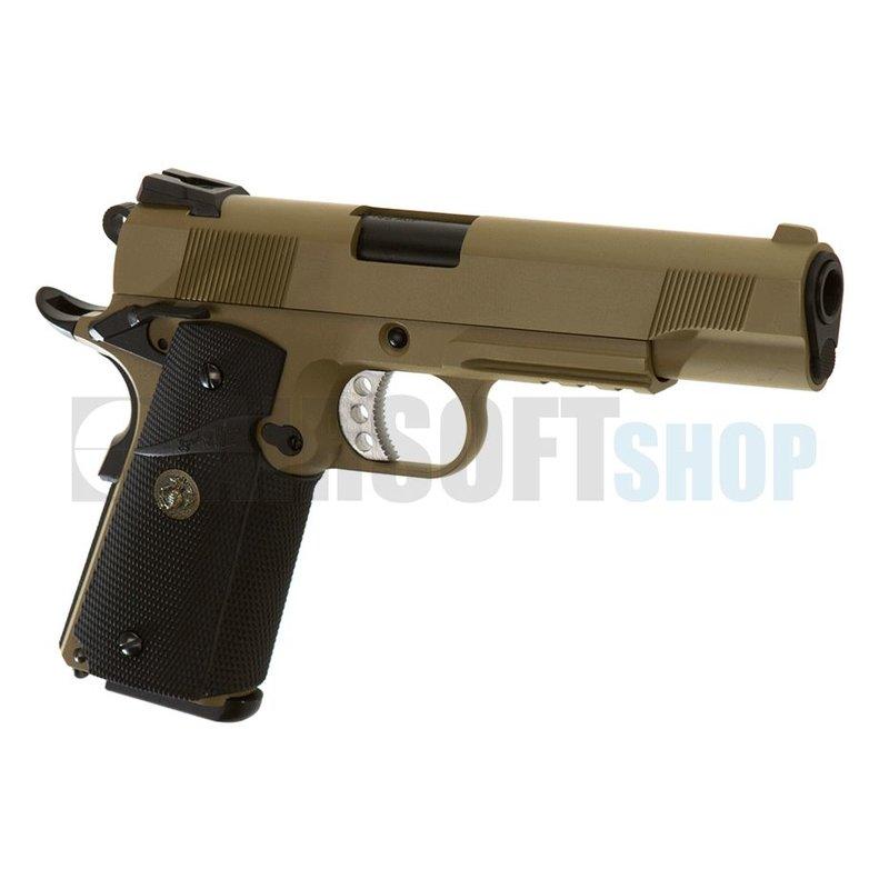 WE M1911 MEU Tactical GBB (Desert)