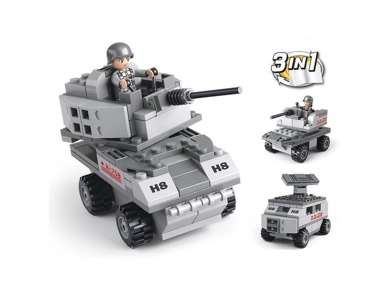 Sluban Armored Vehicle 3-in-1 M38-B0537B