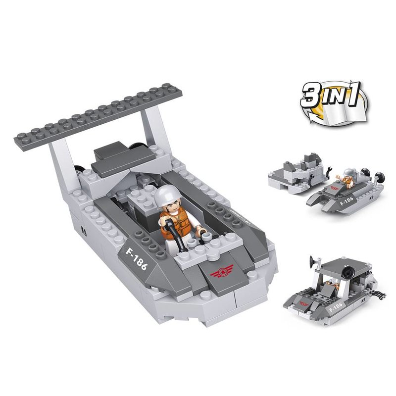 Sluban Landing Craft 3-in-1 M38-B0537D